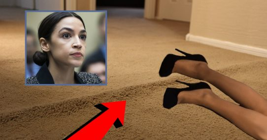 AOC Declares All Carpet Racist After Tripping Incident