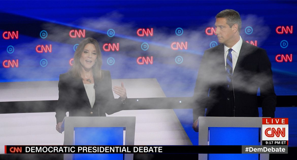 Candidates Now Blame Poor Performance On Marianne Williamson Giving Them A Contact High