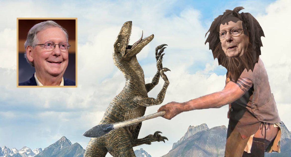 Bombshell: Mitch McConnell's Ancestors Were Abusive Towards Dinosaurs
