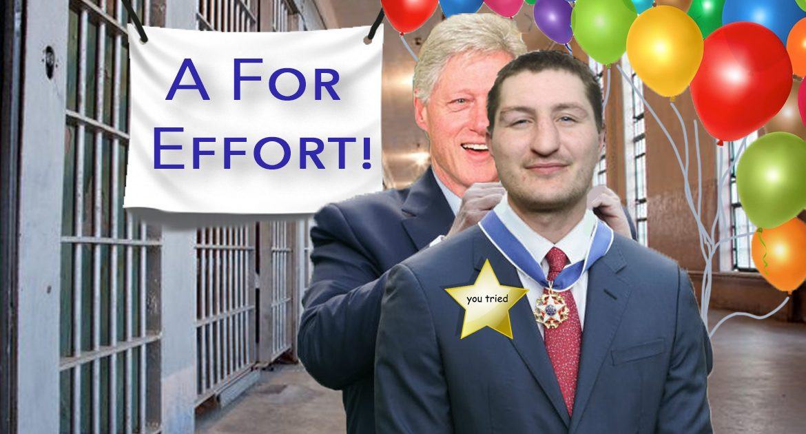 Bill Clinton Gives Jeffrey Epstein's Suicide Watch Guard The 'A For Effort' Award
