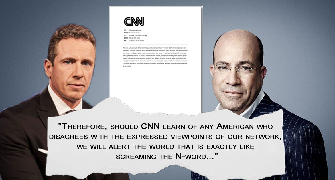 CNN Issues Statement To Americans: 'Disagreeing With Us Is Exactly Like Screaming The N-Word'