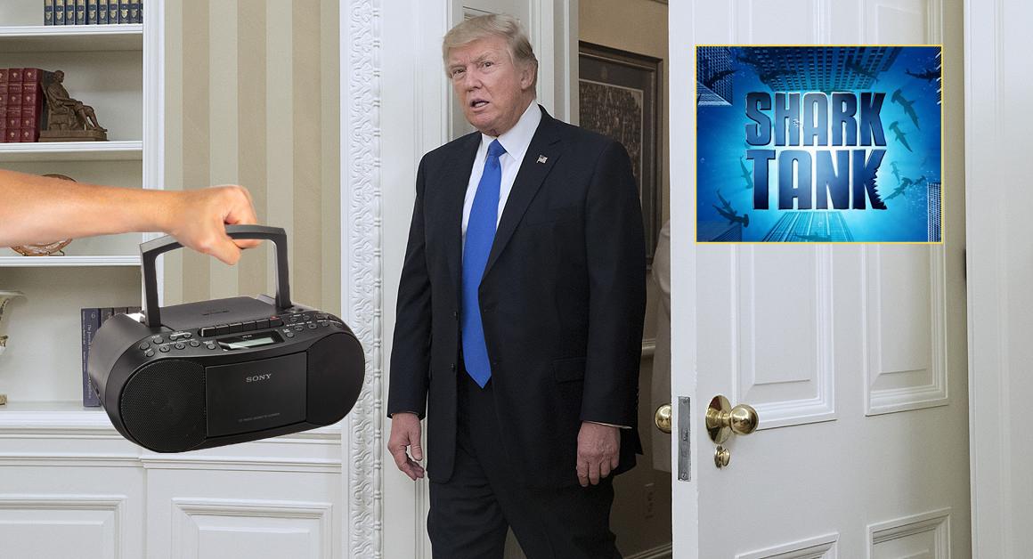 Trump Insists On Having Shark Tank Theme Song Follow Him Around White House
