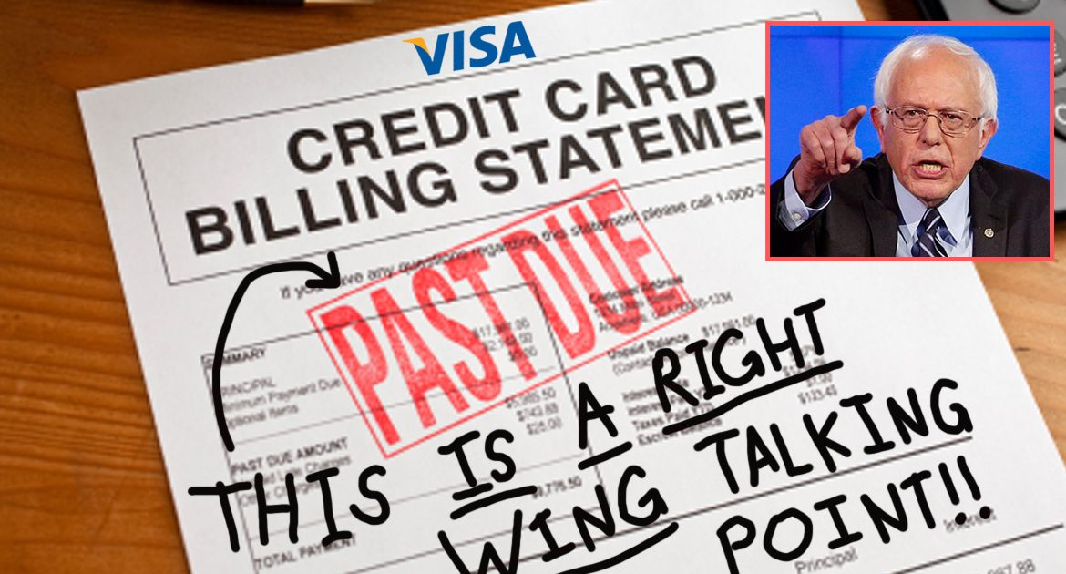 Bernie Sanders Scolds Visa For Using GOP Talking Point On His Credit Card Statement