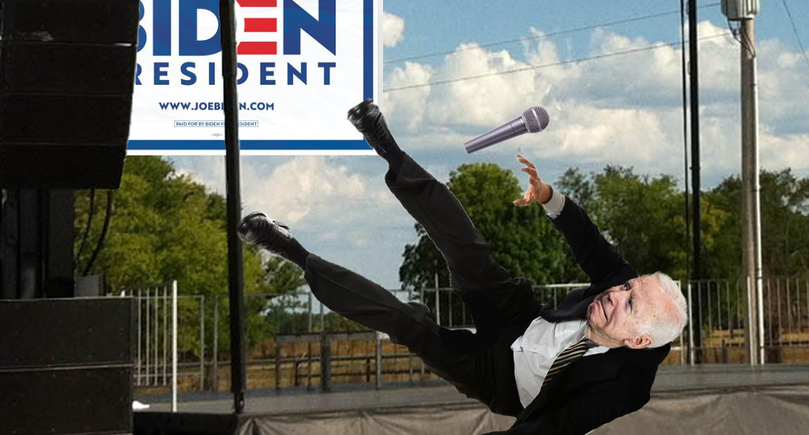 Staying power? Joe Biden Soils Himself, Falls Off Stage, Gains 9 More Points Over Democratic Field