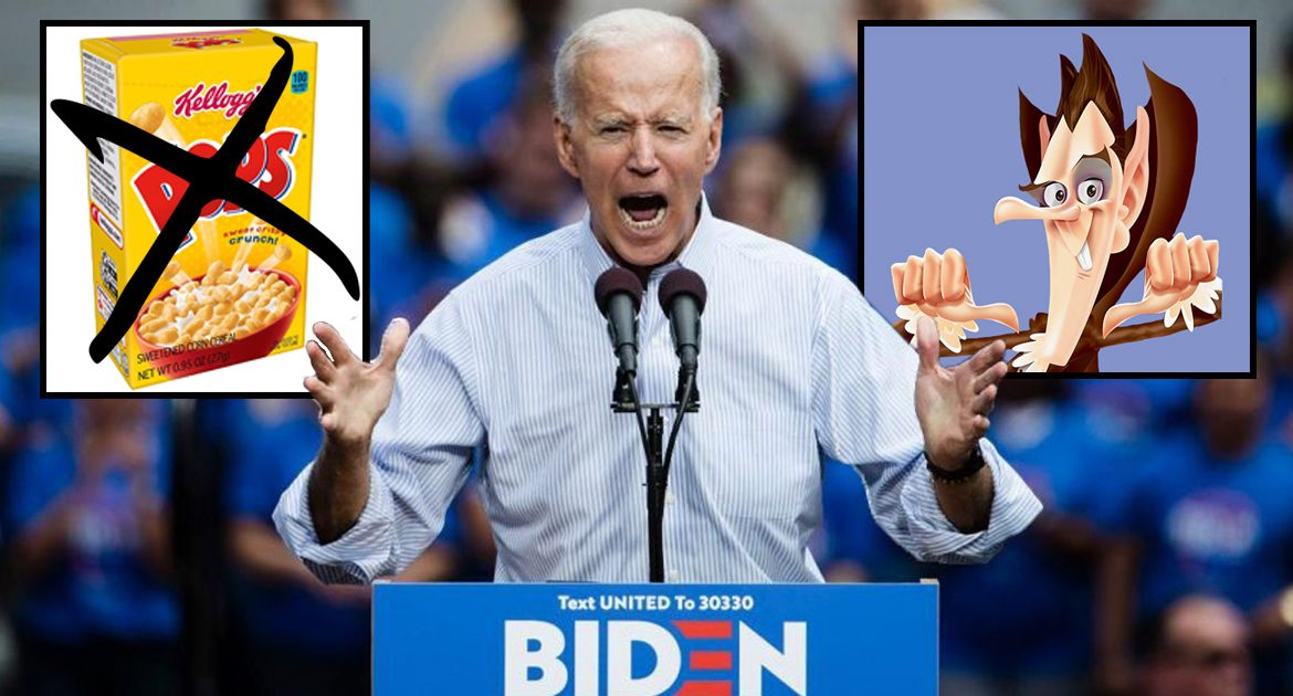 With Corn Pop Defeated, Biden Vows To Conquer Count Chocula