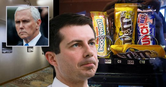 Pete Buttigieg Pretty Sure It Was Mike Pence Who Caused His Vending Machine Mishap