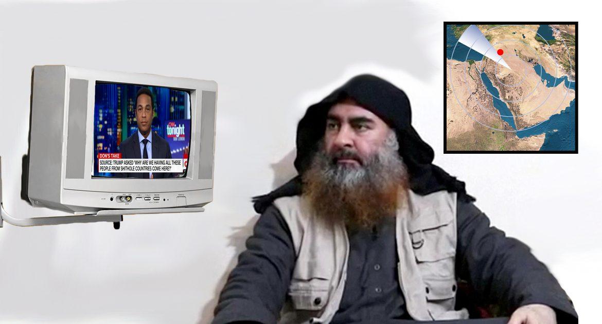 Trump Idea to Find ISIS Headquarters by Searching Middle East for TV Showing CNN Works Like a Charm