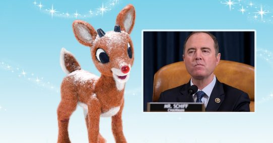 Adam Schiff Pretty Sure Rudolph Guided Sled in Exchange for Acceptance From Peers