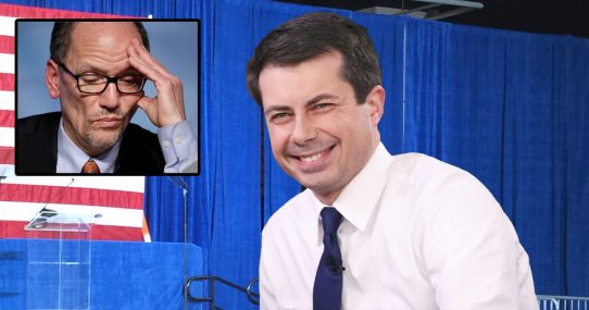 DNC Reminds Pete Buttigieg to Stop Giggling Every Time He Hears the Word 'Caucus'