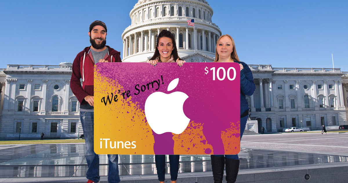 Unable To Grant Full Reparations, White People Opt To Extend $100 itunes Gift Card