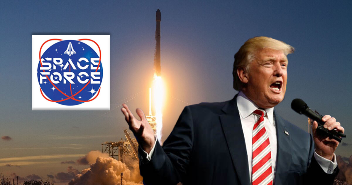 """Trump Kicks-Off Space Force By Singing Aerosmith's: """"I Don't Want to Miss a Thing"""""""