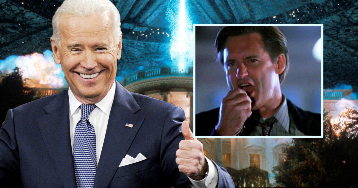 Joe Biden Excited To Plagiarize Bill Pullman's Speech From Independence Day