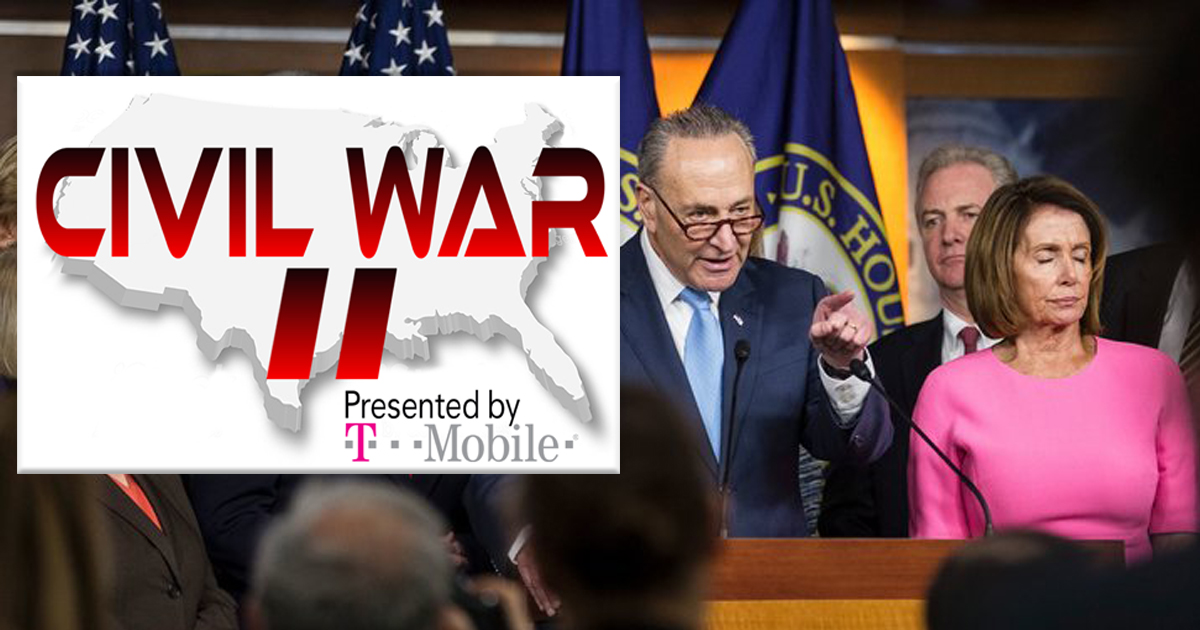 Democrats Insist Talks of a Civil War Are Ridiculous, Sell Naming Rights to T-Mobile Just in Case