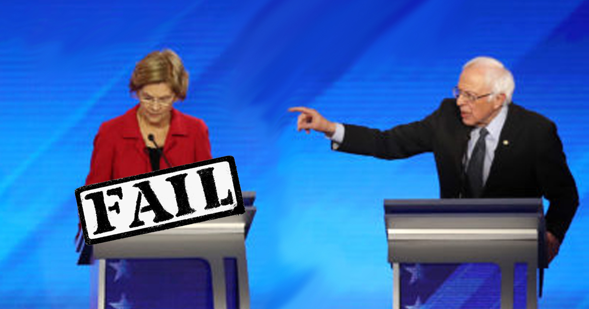 Embarrassing! Elizabeth Warren Forgets to Begin Debate Answer With Made-up, Stupid Little Story