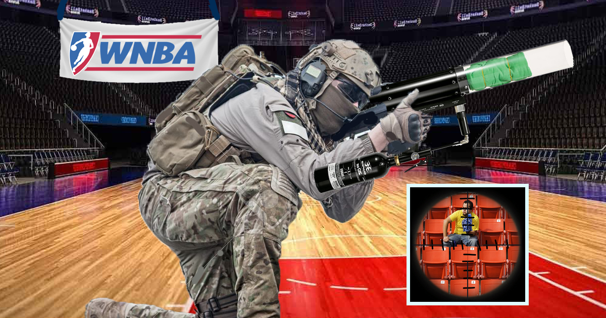 As Attendance Drops, WNBA Forced To Hire Snipers To Operate T-Shirt Cannon