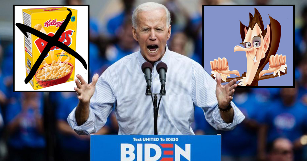 With Corn Pop Defeated, Joe Biden Vows To Conquer Count Chocula