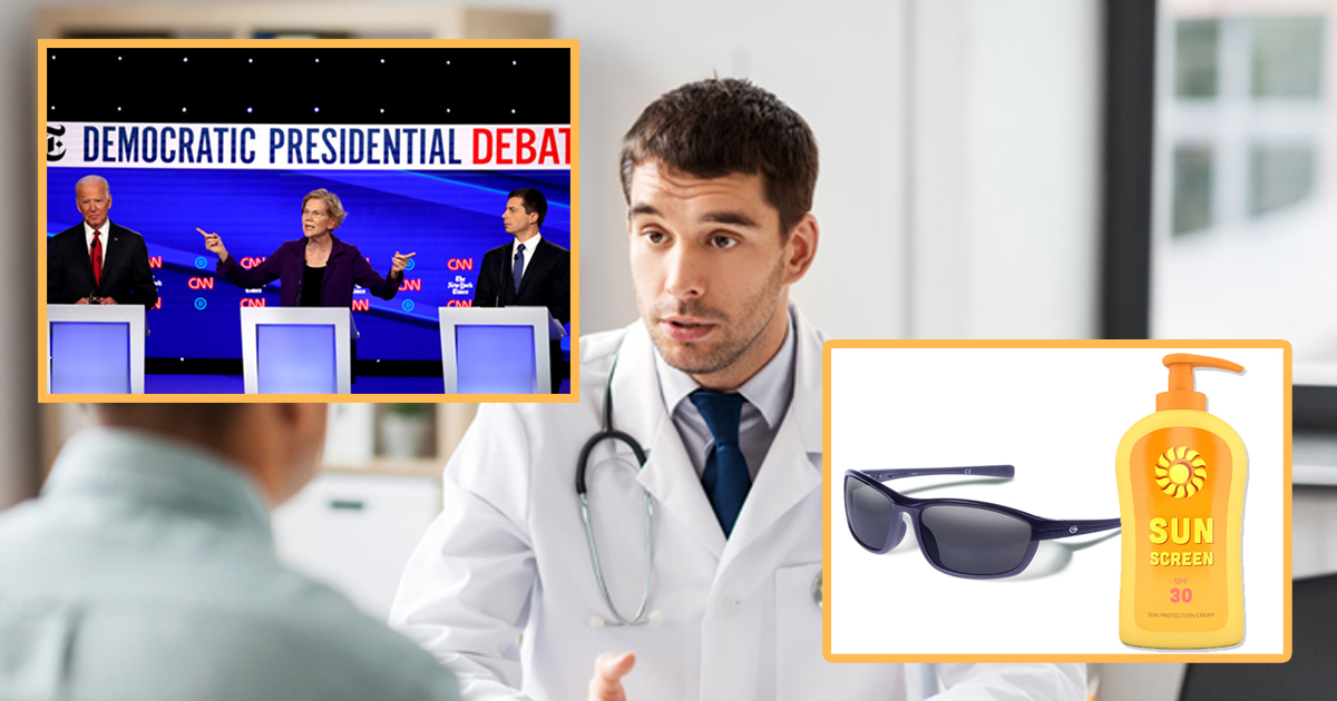 Dems Now So White, Doctors Strongly Warn Viewers to Watch Debate With Sunscreen and Eye Protection