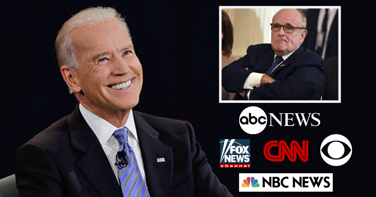 """Biden, """"I Told the Sunday Shows they had 6 hours to uninvite Giuliani And Son of a [Explicit]!"""""""