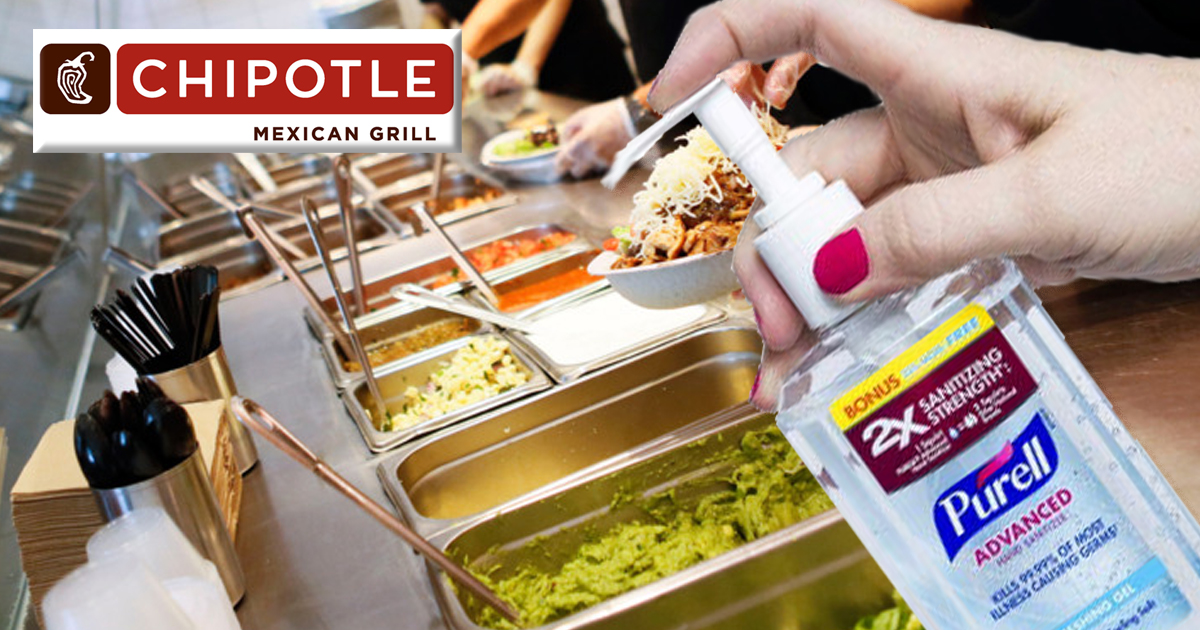 To Combat Food Safety Concerns, Chipotle Will Now Squirt Purell on Your Meal