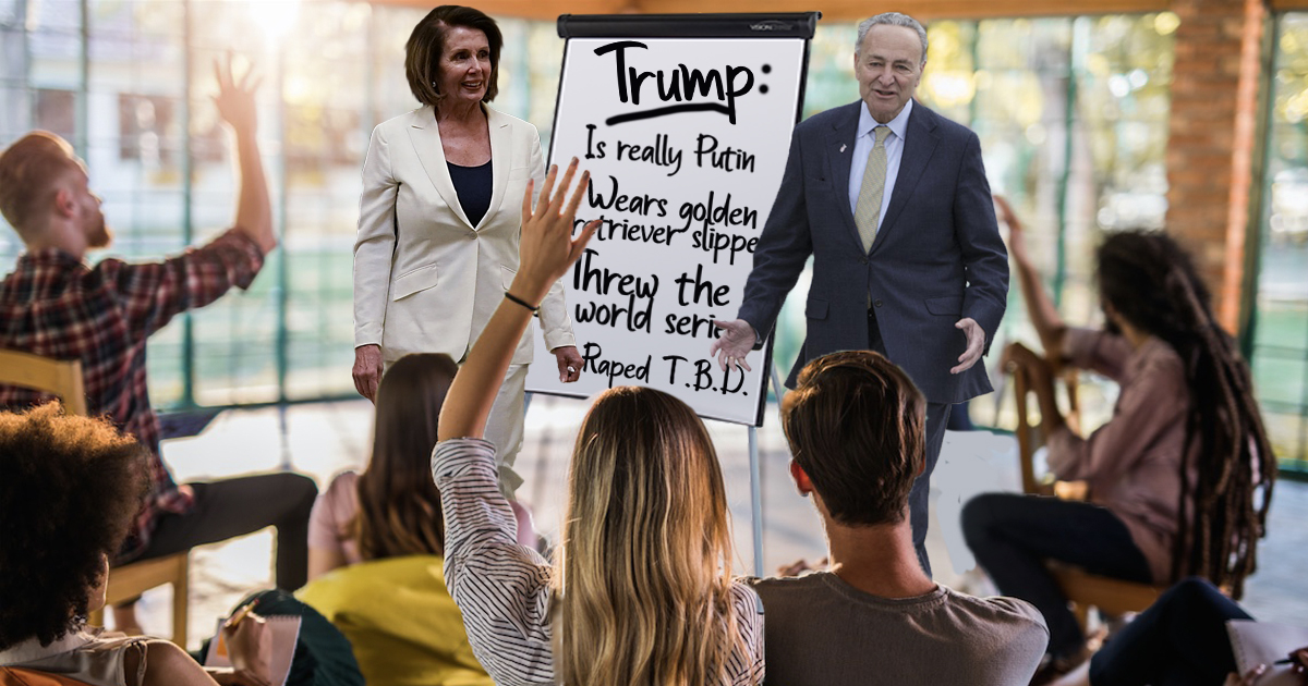 Democrats Busy Conducting Focus Groups to Carefully Craft Trump's Next Outrageous Scandal