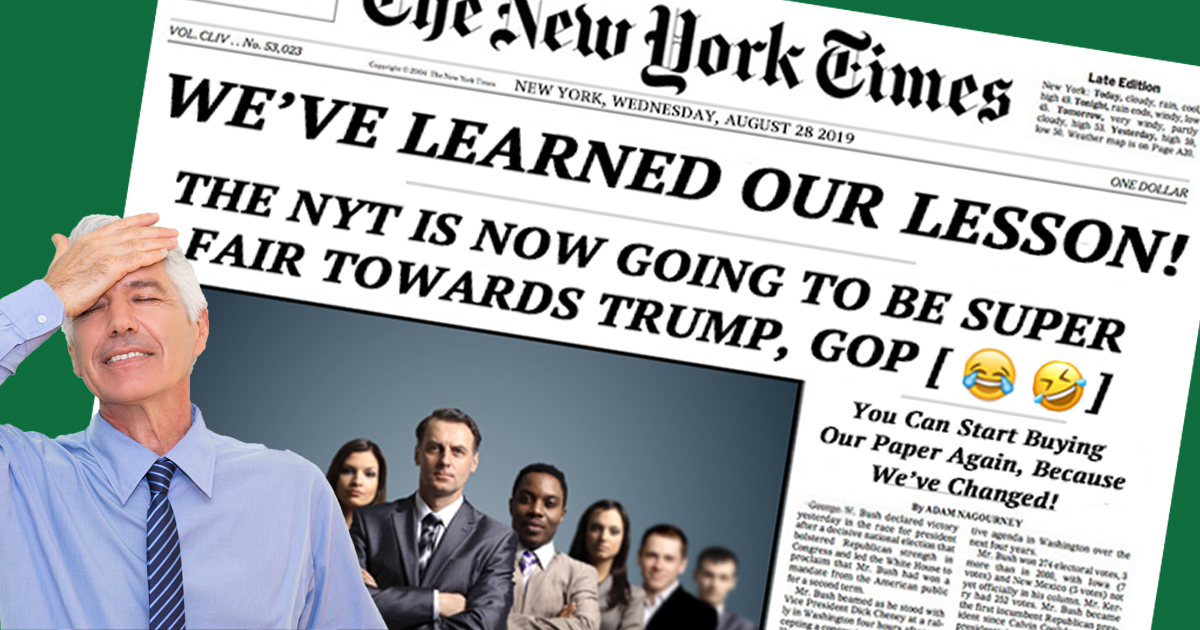 New York Times Asks Nation To Trust Them Again, Forgets To Remove Laughing Emojis