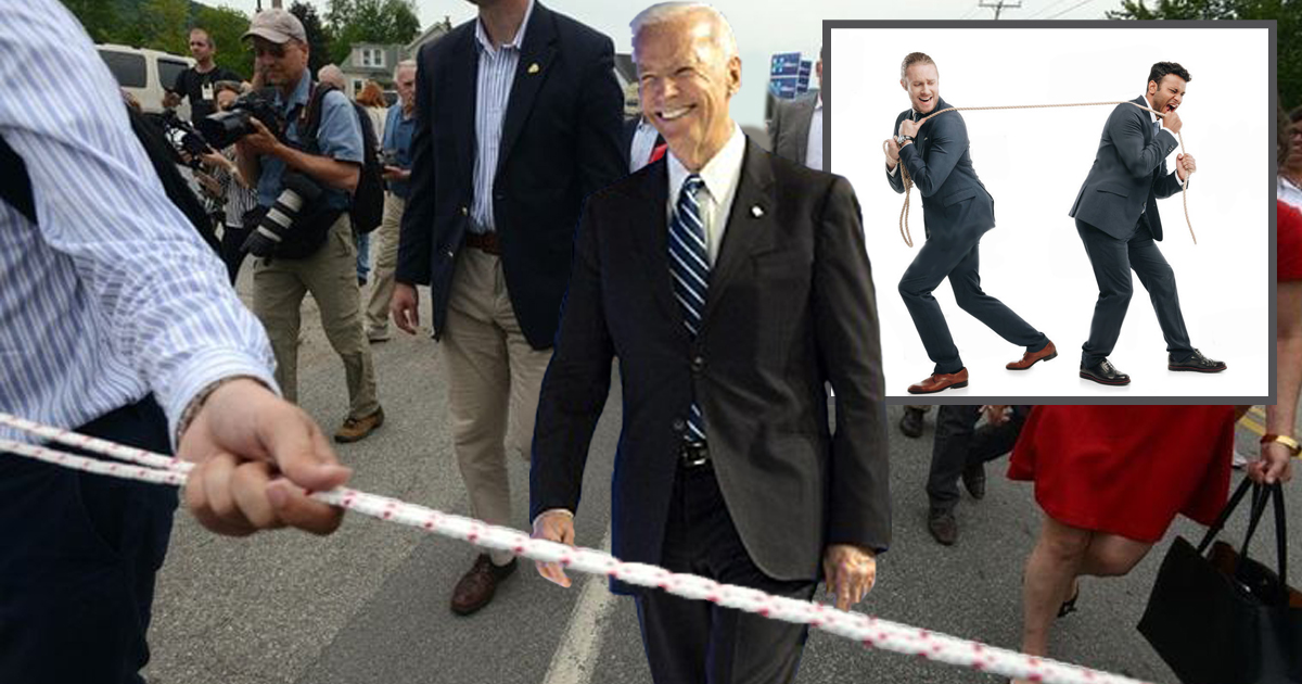 Biden Campaign Hires Hillary's Rope Team to Keep Press at a Distance