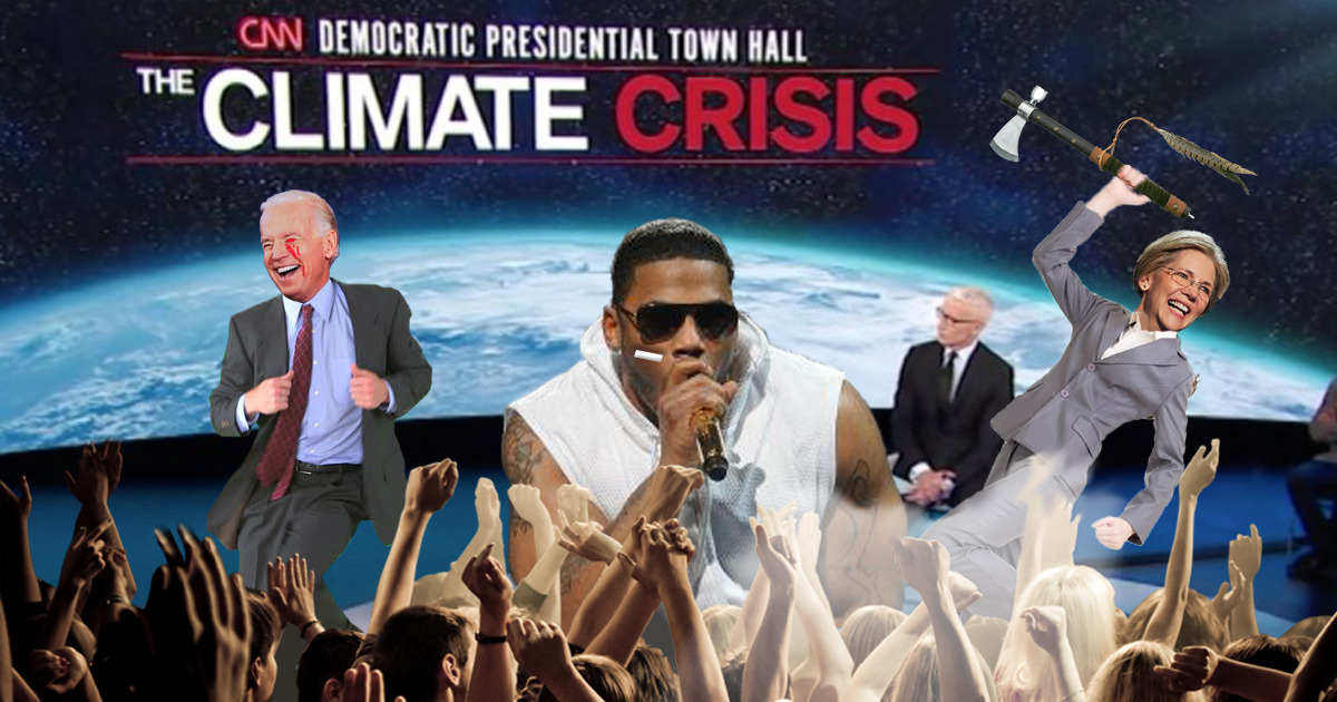 """Attempting To Boost Ratings, CNN Has Nelly Sing """"Hot In Here"""" During Climate Town Hall"""