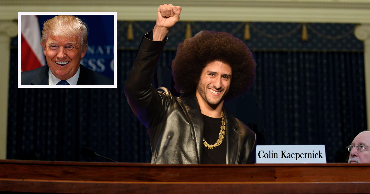 Hail Mary Time? Dems Ask Colin Kaepernick to Testify Against Trump in Impeachment Hearings