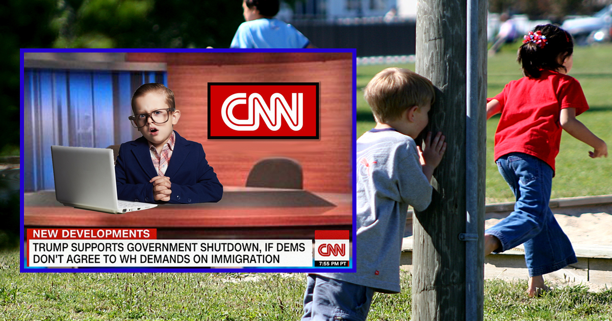 New Record!  Hide-And-Seek Champion Goes Undetected For 12 Weeks Posing As CNN Anchor