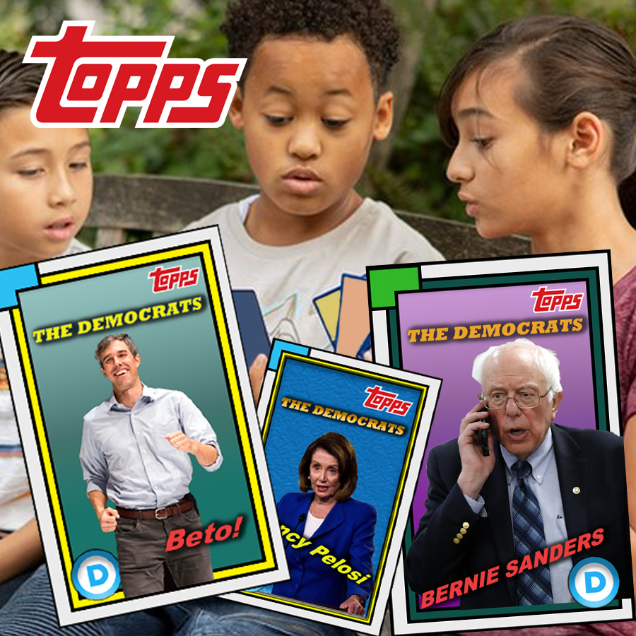 Topps Trading Cards Ditches Athletes, Shifts to Democrats