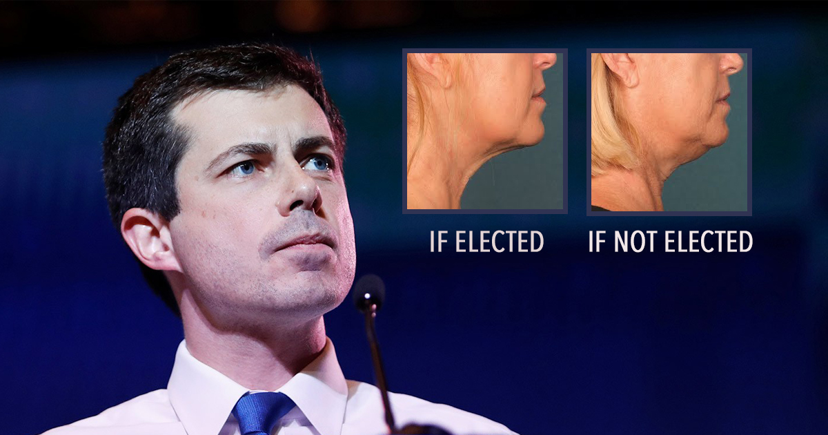 Pete Buttigieg Promises To Cure Turkey Neck If Elected