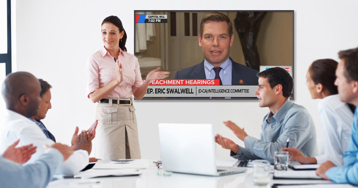 Democrats Hold Focus Group to Determine if Eric Swalwell's Huge Fart on MSNBC was Funny
