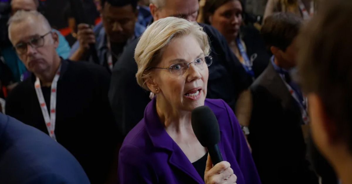 Elizabeth Warren Argues Her Plans to Pay For Medicare For All Fall Under 'Don't Ask, Don't Tell'