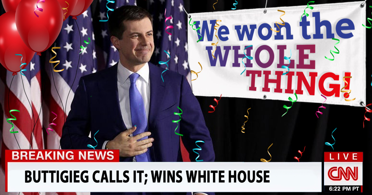DNC Instructs Pete Buttigieg to Just Claim He Won the 2020 General Election