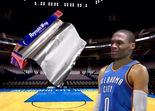 Russell Westbrook Does Not Believe In Aluminum Foil