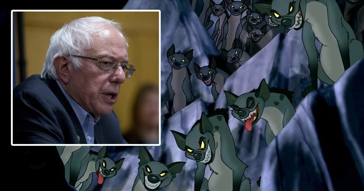 Report: Bernie Sanders Plans to Round Out Cabinet With the Hyenas