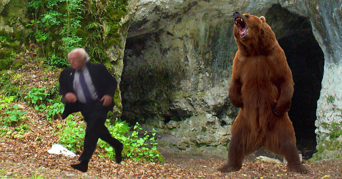 Hearing That Top Donors Are Found in Caves, Bernie Sanders Now Greatly Disturbing the Bear Habitat