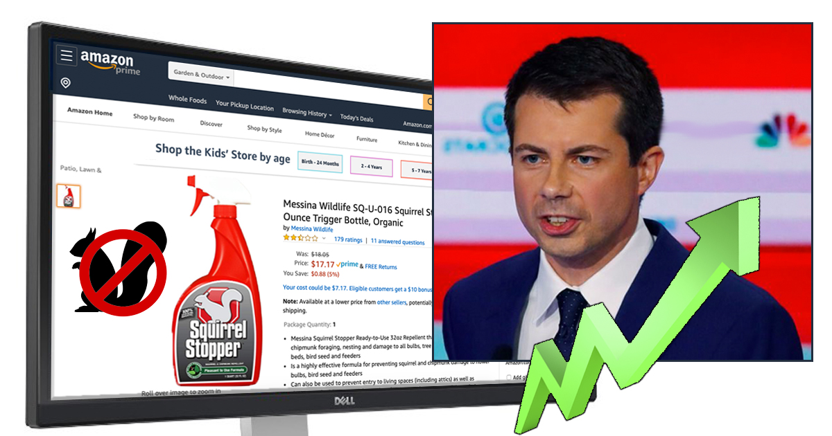 Amazon Reports Noticeable Surge in Squirrel Repellent Every Time Pete Buttigieg Gets Screen Time