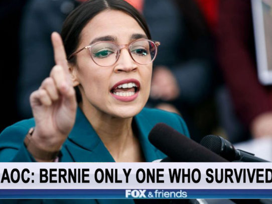 AOC: 'Bernie Sanders is Only Candidate Left Who Survived Y2K'