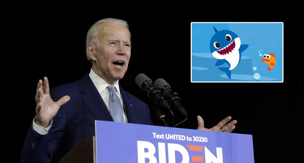 Biden Insists On Singing National Anthem For Crowd, Accidentally Sings Baby Shark