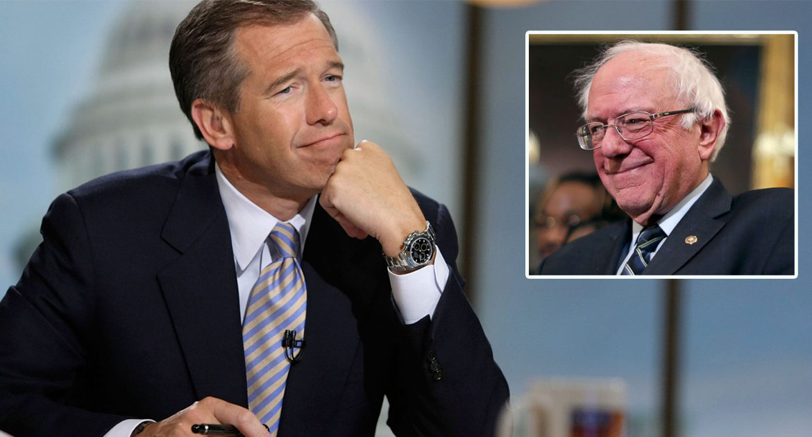 Sanders Campaign Immediately Hires Brian Williams After Epic Math Fail