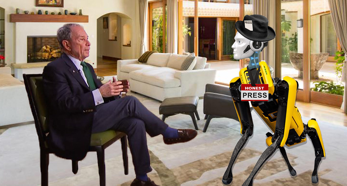 Michael Bloomberg to Provide State-of-the-Art Press Robots to Hold Him Accountable