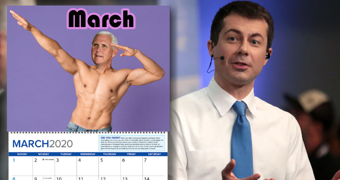 Pete Buttigieg Lists Things America Needs, Accidentally Includes Mike Pence Wall Calendar