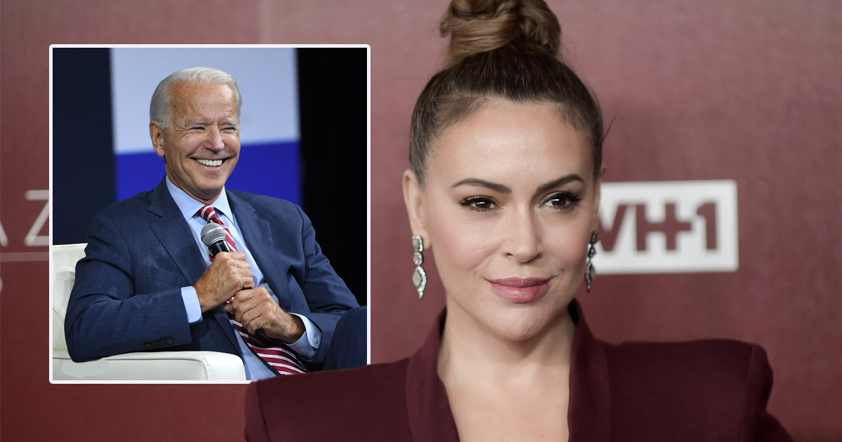 Alyssa Milano: 'If Biden Had Ever Touched A Woman Inappropriately, There'd Be A Bunch Of Memes About It