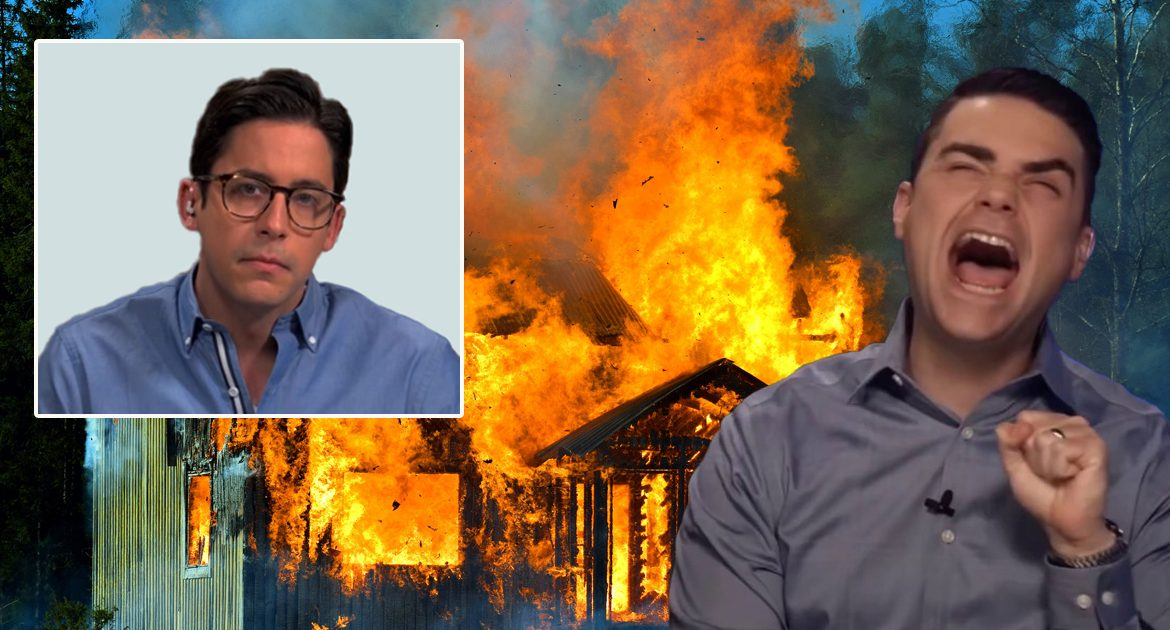 Too Far?  Ben Shapiro Fires Michael Knowles, Burns Down His House For April Fool's Joke