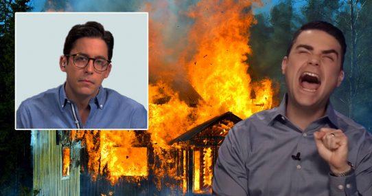 Too Far?  Ben Shapiro Fires Michael Knowles, Burns Down His House For April Fool's Joke