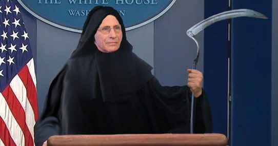 White House Asks Dr. Fauci To Stop Dressing As the Grim Reaper