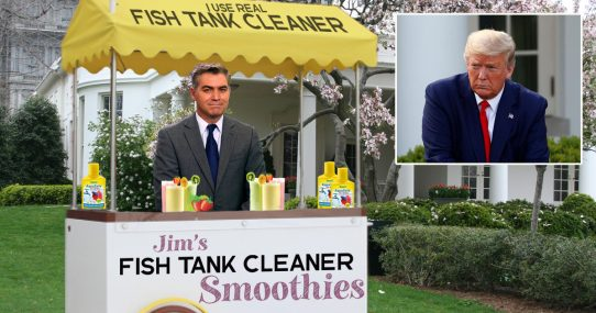 Jim Acosta Asked To Stop Selling 'Fish Tank Cleaner Smoothies' At White House Press Briefing
