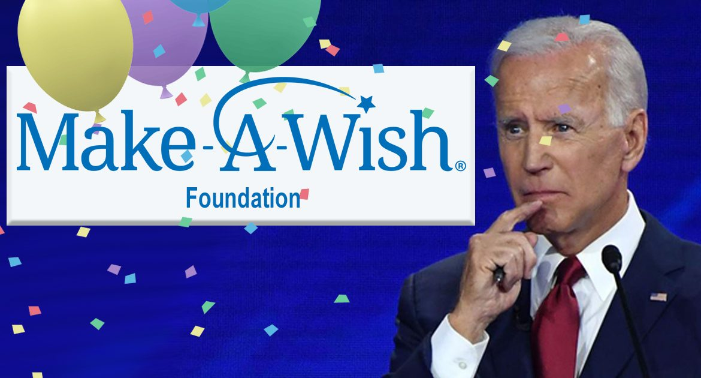 Make-A-Wish Foundation Grants Joe Biden The Presidency As He Bravely Battles Dementia