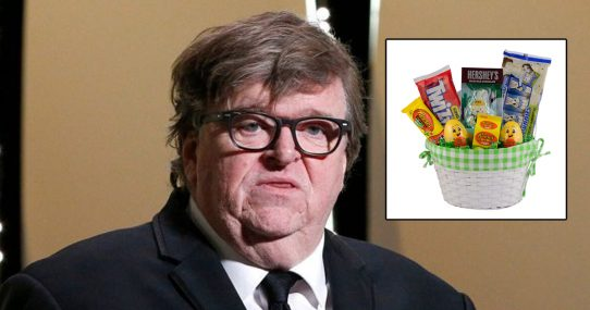 Michael Moore In Critical Condition After Forgetting To Remove Easter Candy Wrappers Again